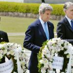 G7廣島外長會》美國國務卿首度在原爆慰靈碑獻花 凱瑞:會建議歐巴馬也來