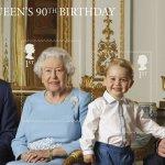 皇家郵政歡慶500周年 英國女王90歲生日紀念郵票亮相