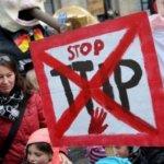 歐巴馬來訪前夕 德國漢諾威抗議跨大西洋貿易協議