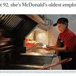 高年級實習生真實版!新加坡92歲強嬤站麥當勞內場炸薯條,而且還想一直作下去⋯