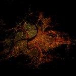 從國際太空站看台北 400公里高空 夜景依然璀燦