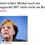 難民政策阻斷連任路?德國民調:2/3受訪者不希望梅克爾連任總理