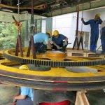 拆裝相當於一頭亞洲象的「驅動大輪」貓空纜車大修完成 6月1日恢復營運