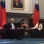 盼支持加入TPP、持續對台軍售 蔡英文接見美國參議員訪問團