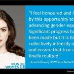 安海瑟薇任聯合國大使,為職業婦女發聲