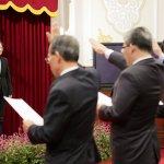 楊國強續任國安局長 總統府內完成宣誓