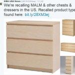 爸媽要注意!IKEA緊急在美加地區回收這款危險抽屜,目前已造成6名幼童死亡