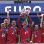 2016年歐洲盃》失去隊長C羅助威,實力不受影響,葡萄牙擊敗法國1:0首度封王
