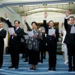 蔡英文親自監誓,中研院長廖俊智、駐外大使等人完成宣誓