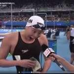 「我已經用了洪荒之力了!」中國女孩挺進仰泳決賽,神回應讓網友驚呼超可愛