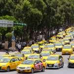 抗議Uber 小黃「路過」行政院抗議