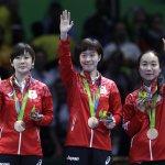 里約奧運》日本女桌團體賽順利奪銅 伊藤美誠刷新日最年輕得獎紀錄