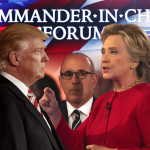 美國總統大選》誰適合當三軍統帥?川普與希拉蕊舌戰國安軍事 互嗆對方不夠格