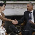 民主進程帶來經濟契機》歐巴馬會晤翁山蘇姬 承諾解除對緬甸經濟制裁