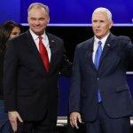 美國總統大選》兩黨總統副手唯一辯論會登場 民主黨凱因攻勢猛烈 共和黨彭斯苦笑以對