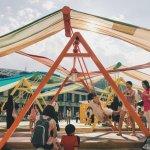 巨型鞦韆現身台北!在最藍天際線下,一起找回童年的回憶