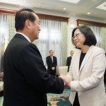 接見宋楚瑜,蔡總統:和世界各國合作,台灣不分朝野的期待