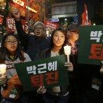 南韓首爾100萬人走上街頭 只有一個訴求:總統朴槿惠下台