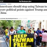 川蔡通話》林飛帆、陳為廷投書《華郵》 籲美勿拿台灣當外交棋子