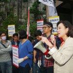 國民黨黨工衝勞動部 抗議黨產會處分釀欠薪