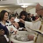 義大利中部地震災區迎接新希望 教宗方濟各為新生兒受洗