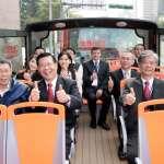 雙層觀光巴士現身台北街頭 露天座位好愜意
