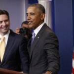 白宮發言人最後記者會 歐巴馬感性鬧場