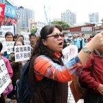 國民黨工黨部外抗議 反遭自救會嗆「不要分化讓人看笑話」