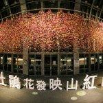 金鐘獎高手設計杜鵑紙花 在捷運大安森林公園站綻放