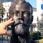 哭泣的沙皇?俄羅斯「二月革命」100周年前夕 末代沙皇尼古拉二世雕像流淚顯「神蹟」