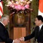 美國新國務卿提勒森首訪亞洲 強調美日韓「鐵三角」