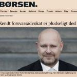 親信門風波》崔順實愛女尚未引渡回國 46歲丹麥辯護律師竟在家中猝死