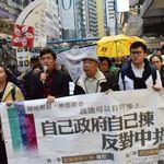 香港特首選舉前 民主派遊行抗議「小圈子選舉」