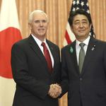 與安倍晉三會談應對北韓威脅 美國副總統彭斯:100%支持日本人民