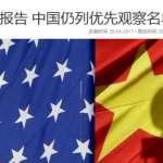 美國貿易代表辦公室發布最新智財保護報告:中國再度列入優先觀察名單 侵權情況仍嚴重