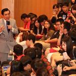 前總統馬英九中正大學演講 狂人政治與東亞局勢現場互動熱烈