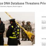 中國公安蒐集平民DNA建資料庫 人權觀察組織:侵犯隱私權