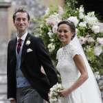 英國凱特王妃妹妹琵琶.密道頓今天出閣!小公主夏綠蒂當伴娘,小王子喬治當花童
