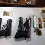 萬里陣頭糾紛避風頭 基隆警方跨轄查獲大批槍械