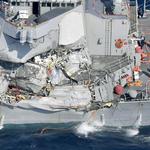 美軍神盾艦日本近海撞擊菲律賓貨櫃輪 7名官兵不幸殉職