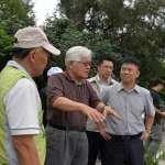 雲林縣長李進勇關至元長鄉、四湖鄉及台西鄉視察淹水後的復原狀況