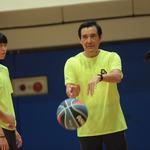 出席籃球營 馬英九:運動好的人一定是能幹的人