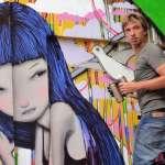 全世界都是他的畫布!以當地風俗入畫,法國塗鴉藝術家來台,在「這裡」留下了祝福…