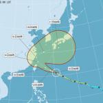 18號颱風泰利路徑北修,轉西北颱機率減低,氣象局預計上午11:30發布海上警報
