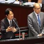 立委要求日本對慰安婦道歉 賴清德:會在謝長廷返國述職時要求