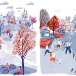 插畫家單車漫遊世界,曾以台灣「這裡」為靈感,明快色彩畫出最有活力的城市日常!