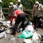 去年排遺500公斤、4年清出破千公斤垃圾 玉管處籲山友將垃圾帶下山