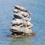 日月潭「九蛙」身世之謎》本來不在湖裡、直到發生「這件事」,才成為全台最紅水位指標