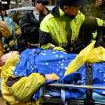勞團警方爆發推擠,竹產秘書長范玉梅倒地送醫