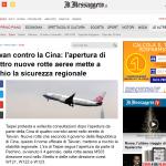 M503航路爭議》羅馬第一大報《消息報》專題報導「台灣抗議中國」